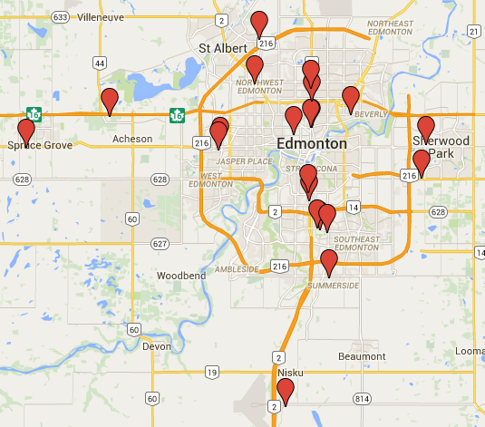 dealership locations in Edmonton