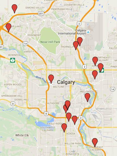 dealership locations in Calgary