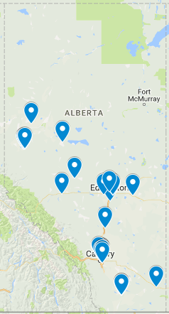 Canada Drives dealership locations in Alberta