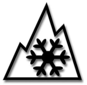 Transport Canada winter tire 3-peaked mountain/snowflake logo