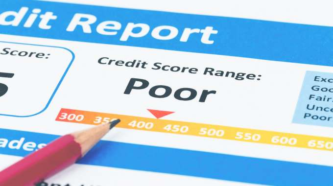 bad credit score report