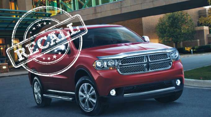 2012 Dodge Durango recalled