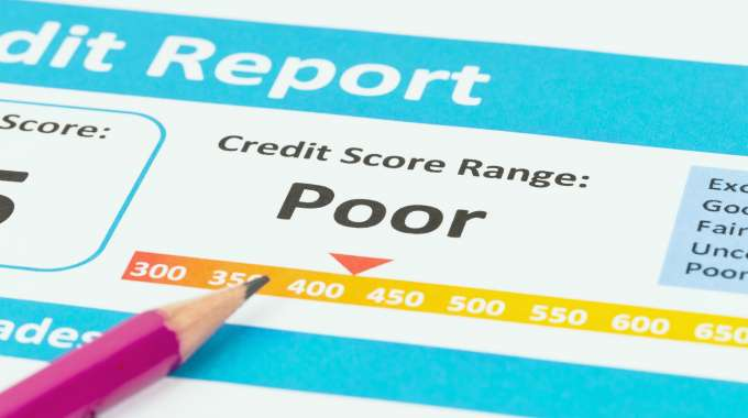 Copy of Credit Report with bad credit rating