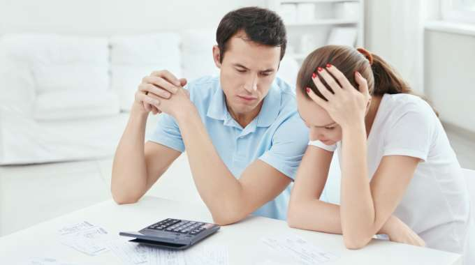 a married couple considers credit counselling