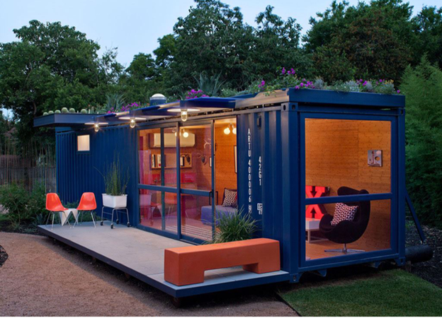 Repurposed Shipping Container. Photo Credit: MorningChores.com