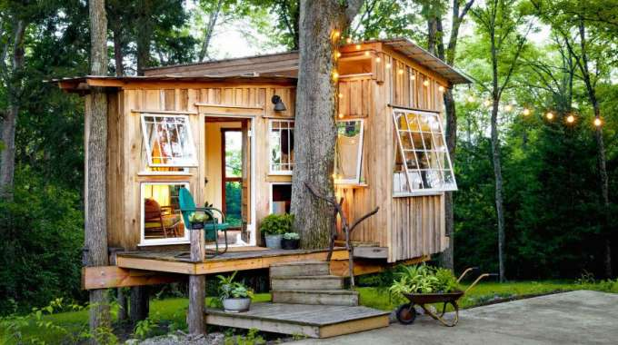 Photo of Tiny House in forest by David Hillegas at Countryliving.com