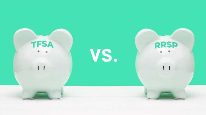 piggy banks labeled tfsa vs rrsp, what is better for you?
