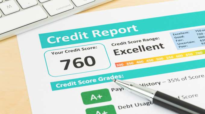 credit report with excellent credit score