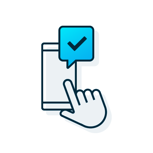 get approved online icon