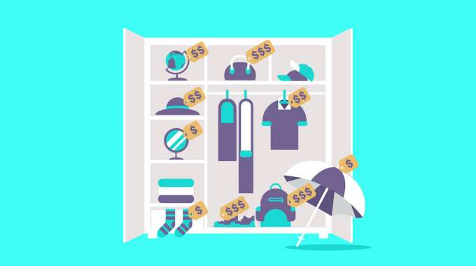 closet full of high-value items you can sell